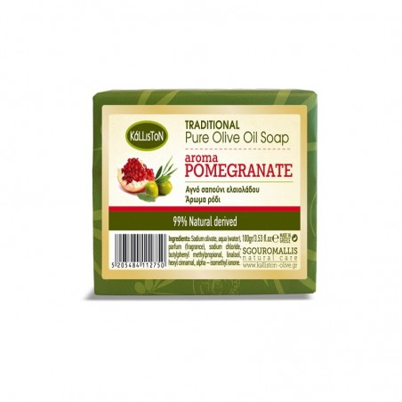 Мыло с гранатом - оливковое масло - 100 гр - Kalliston