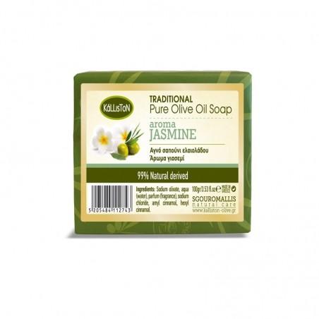 Мыло с оливковым маслом и жасмином - 100 гр - Kalliston
