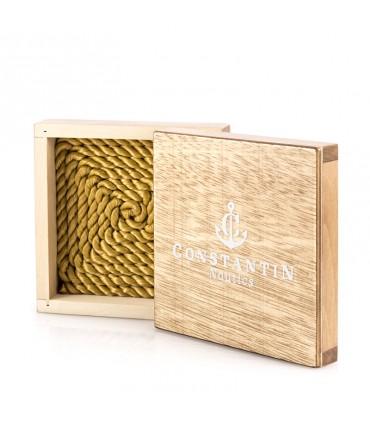 Браслет Constantin Maritimes из парусной веревки, желтое золото 14 карат, черный цвет